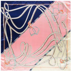 New Wraps&Shawls Silk Scarf Fashion Office Euro Belt Bandana Handkerchief Print Women Chain Foulard Twill Female Silk 90cm*90cm Dcxpn