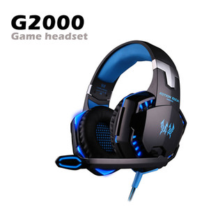 G2000 Gaming Headset Over-Ear Gaming Headphones Surround de Redução de Ruído Estéreo com Luz LED Mic para Nintendo Switch PC Game in Box