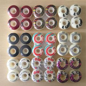 New 4pcs Pro PU Skateboard 51mm 52mm 53mm 54mm Wheels Rodas Skateboarding Parts Wheels 101A Rodas De Skate