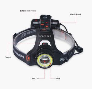 faro ricaricabile a LED CREE XML T6 Lanterna impermeabile COB USB faro zoom 18650 ha condotto la torcia pesca Head Bungalow