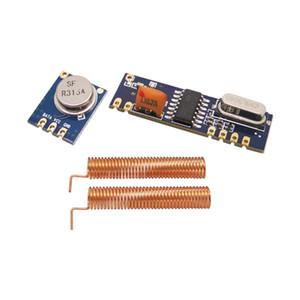 10sets / lot 315MHz | 433MHz ASK 무선 모듈 키트 (RF 송신기 STX882 + 수신기 SRX882 + 구리 스프링 안테나)