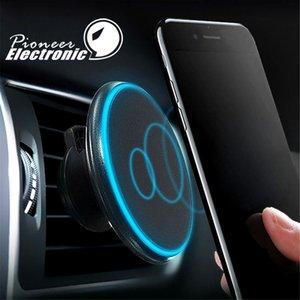 Qi Magnétique Sans Fil De Voiture Chargeur De Charge Air Vent Mont Titulaire 360 ° réglage rotatif 5 V / 2A pour iPhone 8 X Samsung Galaxy S8 avec paquet
