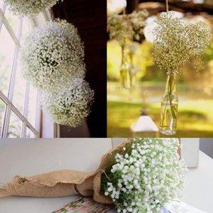 DIY Yapay Çiçek Şube bebeğin Nefes Çiçek Gypsophila Sahte Silikon Bitki Düğün Ev Otel Parti Süslemeleri Için