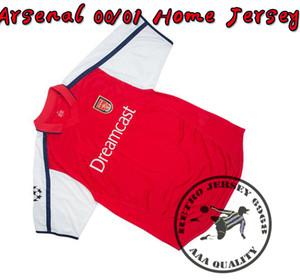 Ücretsiz kargo 2000/01 ev henry ibrahimovic adams bergkamp silvinho vieira futbol forması eski retro gömlek