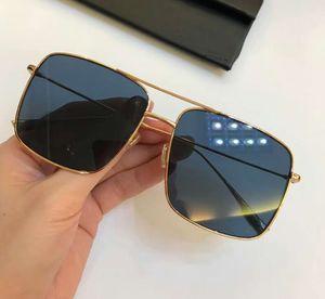 Mens Square Stellaire Sonnenbrille Gold Frames blau Lenes Sonnenbrille Brillen Driving Glasses Fashion Neu im Kasten