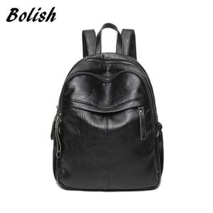 Bolish marca macia impermeável couro PU Mulheres Feminino bagpack maior mochilas de viagem para meninas mochila saco de fraldas