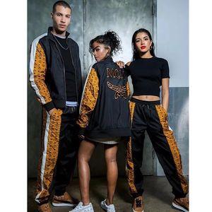 Moda primavera autunno giacca pantaloni di lusso cucitura felpa set casual strada hip hop outwear pantaloni sport coppia tuta HFYMTZ020