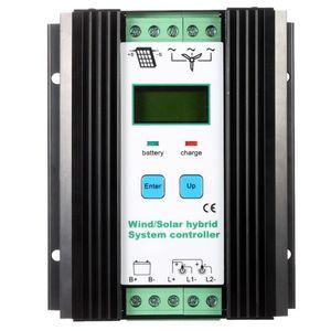 Freeshipping WindSolar الهجين تحكم PWM (600W الرياح + 400W الطاقة الشمسية) 12V / 24V التلقائي