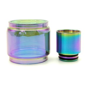 Ersatz verlängern Rainbow Bulb Glass Tube + Tropfspitzen-Set für TFV12 Prince Resa TFV8 X BABY Big iJust 3 Kit