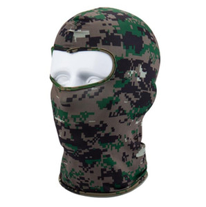 Açık Spor Kayak Maskesi Bisiklet Bisiklet Maske Caps Motosiklet Barakra Şapka CS rüzgar geçirmez toz kafası setleri Kamuflaj Taktik kaput