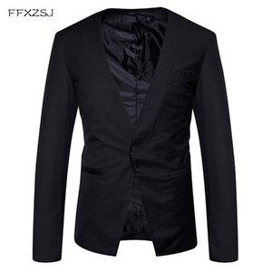 Mens Slim Fit Casual Single Breasted Un Bouton Blazer Veste 2018 Marque De Mode Hommes De Mariage Costumes De Fête D'affaires et Blazers