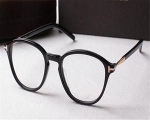 Moda DOWER ME Miopia Óculos Unisex Armação Redonda Full Rim Acetato Preto Óptico para Óculos de Leitura de Óculos AL5397