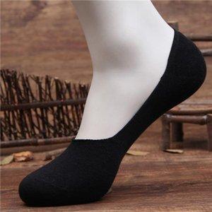 Toptan-1 Çift erkek Çorap Terlik Bambu Elyaf kaymaz Silikon Görünmez Tekne Çorap Bahar Yaz Moda Erkek Ayak Bileği Çorap