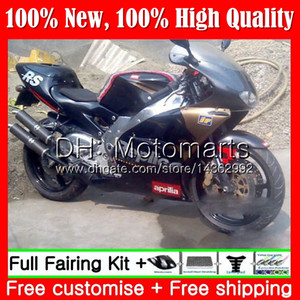 Negro dorado Carrocería para Aprilia RS-250 RSV250 RS250 95 96 97 cuerpo 5MT1 RS250R 95-97 RSV 250 RR RS 250 1995 1996 1997 Hot Fairing Bodywork