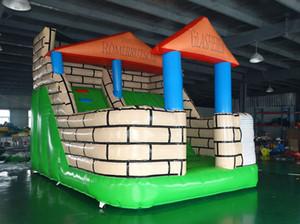 Castillo hinchable inflable para toboganes inflables para niños, juegos al aire libre y uso en interiores, envío gratis al mar