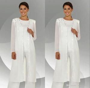 2018 personnaliser mère de la mariée robes en mousseline de soie costume mariage mère de la mariée pantalons costumes avec veste vestido de madrinha