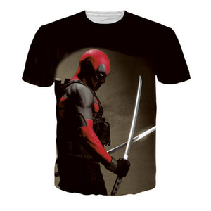 Thin Section Pure Cotton Men Fashion Casual Short Sleeves Cosplay Deadpool Violence 3D Game T-shirt Cartoon