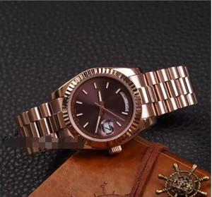 DAYDATE 로즈 골드 Orologio Di Lusso 브랜드 시계 Day-Date 회장 자동 시계 Orologio Da Polso Automatico Lusso Orologio Relo Reloj