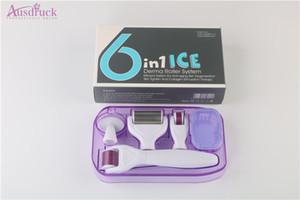 توفير المزيد من المال! Pro 6in1 Ice Skin Roller مساج للجسم Derma Roller Iced Wheel Anti Ageing