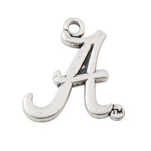 Logo encantos equipo de la Universidad de la aleación de la vendimia al por mayor encanta la letra del alfabeto 21 * 22mm AAC1041
