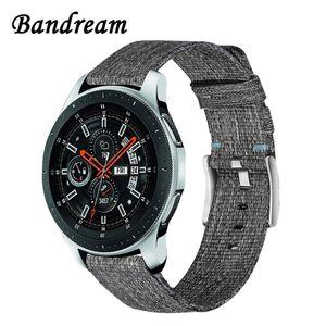 Canvas Nylon Armband 22mm für Samsung Galaxy Watch 46mm Schnellverschluss Stahlband Schließe Armband Handgelenk Armband