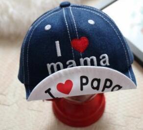 Baby Hut Frühling und Sommer 1-2 Jahre alten Jungen Baby niedlich Schirmmütze Kinder Denim Baseball Cap MZ001