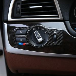 Accessoires Auto Pour BMW F10 F18 F01 F02 F03 F07 F25 F26 Car Styling phares Boutons Switch Cadre décoration couverture Garniture autocollant de voiture