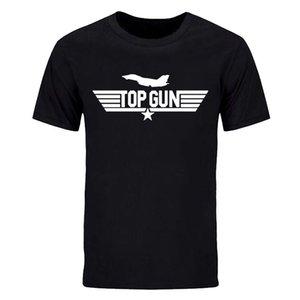 Nueva Moda de Verano de Buena Calidad Camisa de Algodón Hombres Venta Caliente Camisa Masculina Top Gun Tom Cruise F-16 Camisas tops Tees DIY-0207D