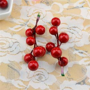 100 шт. 7 глава фруктовый букет из искусственной вишни ягоды поддельные жемчужные цветы тычинки Diy свадебные украшения дома
