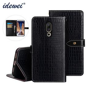 Pour Meizu 16X Housse En Cuir De Luxe Flip Case Pour Meizu 16 Plus De Protection Téléphone Cas Crocodile Grain