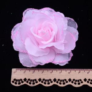 Seidenblume 50 teile / los 6,5 cm Seide Rose Corsage Hochzeitsdekoration DIY Künstliche Rose Girlande Verziert Künstliche Blumen Real Touch Rosen