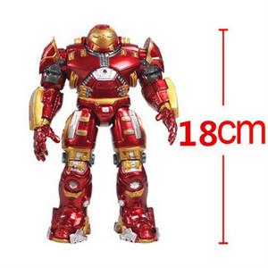 Hot Marvel Heros Toy 18CM Avengers Iron Man Hulkbuster Rüstung Gelenke Mark mit LED-Licht goldene Farbe PVC-Tätigkeits-Abbildung Sammlung Modell Spielzeug
