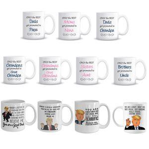 Taza divertida del papá Presidente divertido Mug Dad regalo de cumpleaños Cerámica tazas de café regalo divertido para la familia