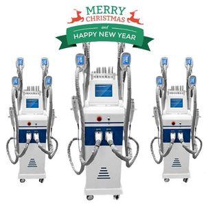 GRAN VENTA !!! 4 manijas cryolipolysis congelación de grasa adelgazante machin adelgaza ultrasonido RF liposucción lipo láser máquina CE / DHL