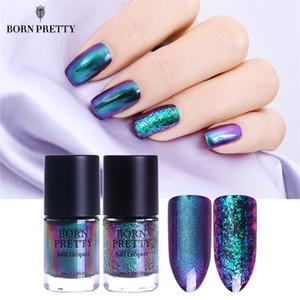 BORN PRETTY Vernis à ongles Chameleon 9 ml Or Violet Galaxy Glitter Sunset Glow Sequins Vernis à Ongles Vernis (Base Noire Nécessaire)