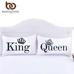 BeddingOutlet Queen King taie d'oreiller décoratif corps taie d'oreiller Design plat literie qualifié 20inchx30inch literie Valentin