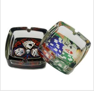Cendrier En Verre Puce De Poker Equal Autocollant Cendrier En Verre Carré Calibre 95mm
