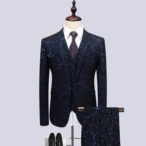 2018 Flower color Host dress Men Suits Fashion Party dresses Men's Slim Fit business men Wedding suit full size M-6XL mens blazer