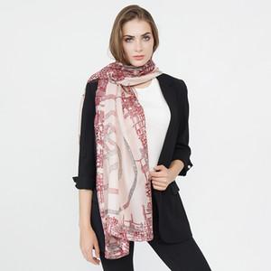 2018 Nuevo Patrón de Diseño Simple Mujeres Bufanda Larga Bufandas de Moda Primavera Suave Señora Viscose Pashminas Thin Summer Shaw Wraps