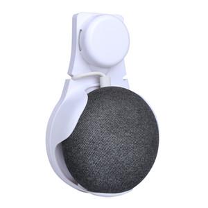 Outlet Soporte para montaje en pared Soporte para Google Home Mini Asistentes de voz Soporte compacto Estuche Enchufe Cocina Baño Soporte para dormitorio Blanco Negro