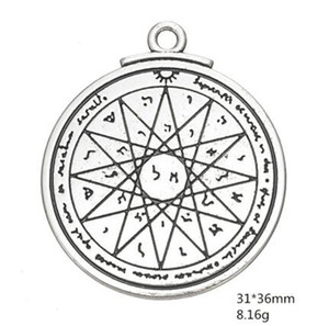 Tetragrammaton 부적과 부적의 지혜 솔로몬의 오래된 열쇠 인감 Pentacle Power Charms for jewelry 만들기