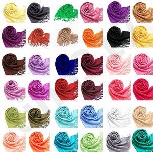 Moda Kutlama Yıllık toplantı Etkinlik İmitasyon Cashmere Eşarp Sonbahar Kış Kadın Püsküller Pashmina şal Pure Color sarar S