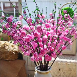 Simulación Fruit Rose Bouquet Europea Pretty Wedding Party Mini Peony Seda Artificial Flor Novia Ramo para la decoración casera de la boda