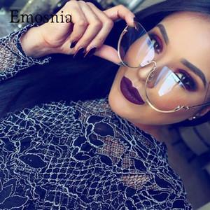 Emosnia Feminino Big Transparente óculos de sol Mulheres Oversized Quadro Limpar Lens Lady aro Sun Glasses New Arrival