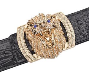 2018 New belt original designer Big Buckle Leopard belt Men luxury Buckle belt top quality fashion mens Genuine leather belts