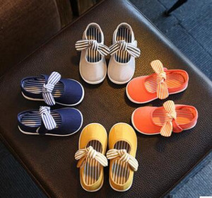 Jessie store V2 Solid Bow-knot Crib Bebe Striped Baby, Kids & Maternity Shoes $99 version
