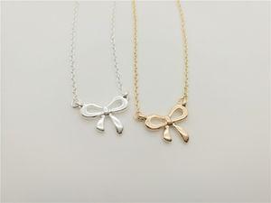 kleine bogen-knoten charme anhänger Halskette Neue Korea Super Süße Bogen Halskette Nettes Mädchen Einfache Schlüsselbein Schöne Anhänger halskette