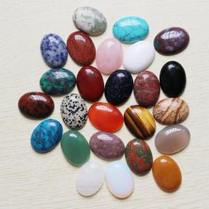 Venta al por mayor 12 unids / lote piedra de cristal natural caliente Oval CAB CABOCHON granos de la lágrima accesorios de la joyería DIY que hace 22 mm x 30 mm envío gratis
