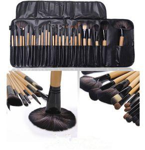 24 pcs Maquillage Brosse Ensemble MakeupTool Kit Rose Rouge Noir Couleur Comestic Maquillage Brushes Blush Visage Poudre Fard À Paupières Fondation Brosses