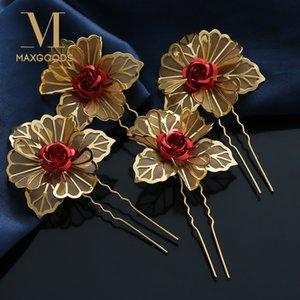20 pcs Mode Plum fleur Cheveux Broches Clips pour Femmes De Mariage Bijoux de Cheveux Chic Fleur Barrettes Cheveux Accessoires